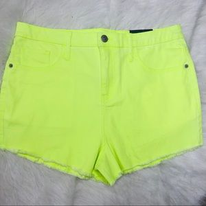 NWT Wild Fable High Waisted Neon Yellow Shorts